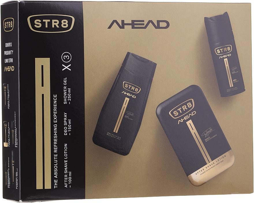 STR8 Ahead - Комплект за мъже (афтър. лосион/100ml + део/150ml + душ гел/250ml)