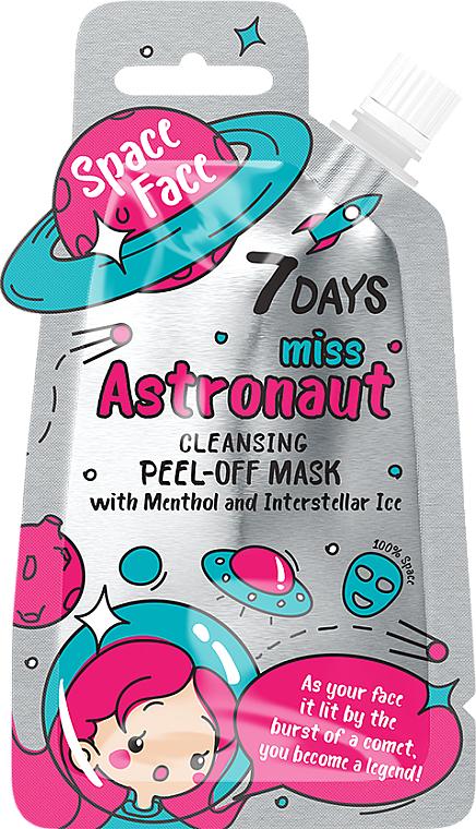 "Пилинг маска за лице с ментол ""Miss astronaut"" - 7 Days Space Face — снимка N1"