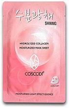 Парфюми, Парфюмерия, козметика Памучна маска за лице - Coscodi Hydrolyzed Collagen Moisturized Mask Sheet