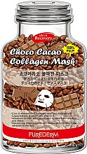 Парфюми, Парфюмерия, козметика Колагенова маска за лице с какаово масло - Purederm Choco Cacao Collagen Mask