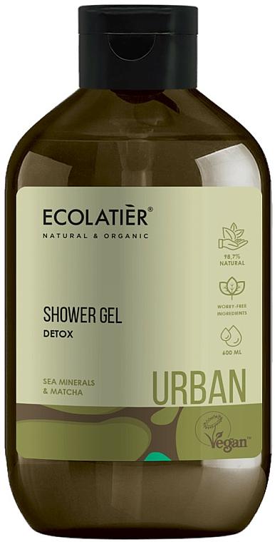 Детоксикиращ душ гел с морски минерали и матча - Ecolatier Urban Shower Gel