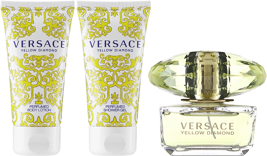 Versace Yellow Diamond - Комплект (edt/50ml + b/l50ml + sh/g50ml) — снимка N2