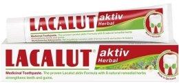 "Парфюмерия и Козметика Паста за зъби "" Актив хербал"" - Lacalut Aktiv Herbal Toothpaste"