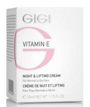 Парфюмерия и Козметика Нощен лифтинг крем - Gigi Vitamin E Night & Lifting Cream