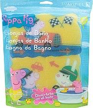 """Парфюми, Парфюмерия, козметика Комплект гъби за баня """"Прасето Пепа"""" 3бр, състезание - Suavipiel Peppa Pig Bath Sponge"""