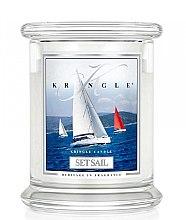 Парфюми, Парфюмерия, козметика Ароматна свещ в бурканче - Kringle Candle Set Sail