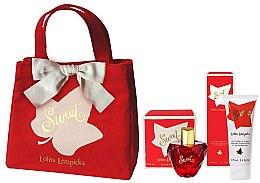 Парфюмерия и Козметика Lolita Lempicka Sweet - Комплект (парф. вода/50 + лосион за тяло/75ml + козм. чанта)