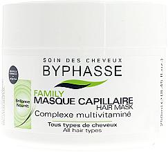 Парфюмерия и Козметика Маска за всеки тип коса с мултивитаминен комплекс - Byphasse Family Multivitamin Complexe Mask