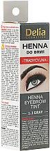 Парфюми, Парфюмерия, козметика Крем-боя за вежди, графит - Delia Brow Dye Henna Traditional