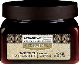 Парфюмерия и Козметика Маска за растеж на косата - Arganicare Castor Oil Hair Masque