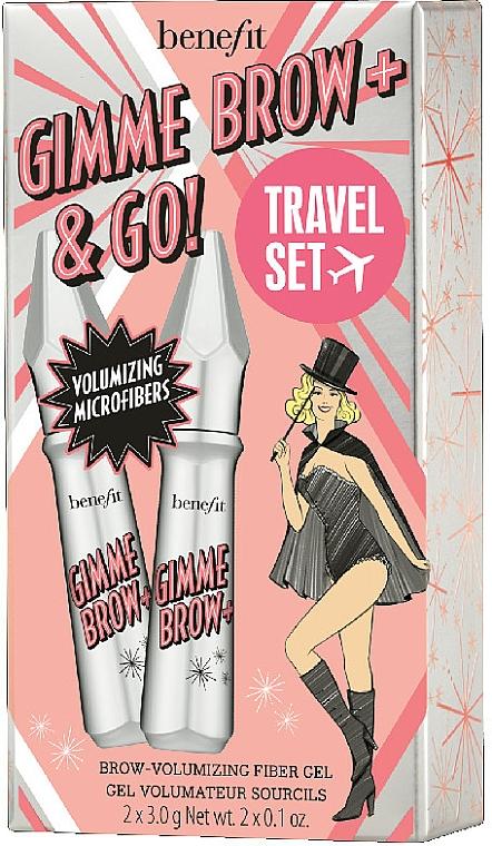 Комплект спирали за мигли - Benefit Gimme Brow & Go Set (mascara/3gx2) — снимка N1