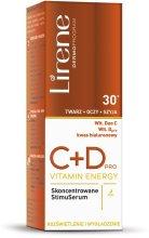 Парфюмерия и Козметика Серум за лице - Lirene C+D Pro Vitamin Energy Iluminating Serum With Smoothing Effect 30+