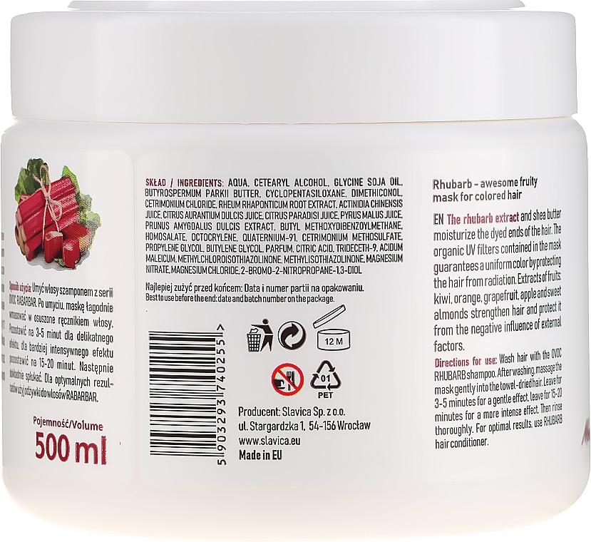 Маска за коса с екстракт от ревен, плодове и масло от шеа - Ovoc Rabarbar Mask — снимка N3