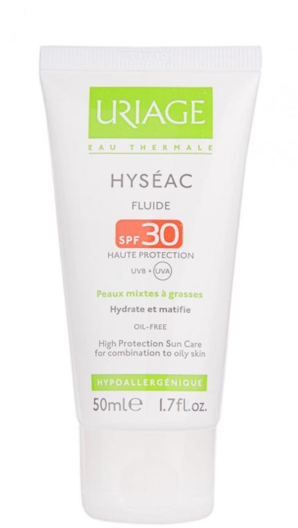 Слънцезащитен флуид за лице SPF 30 - Uriage Hyseac SPF 30 Fluid — снимка N3
