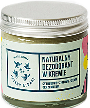 Парфюмерия и Козметика Кремообразен дезодорант с аромат на трева - Cztery Szpaki