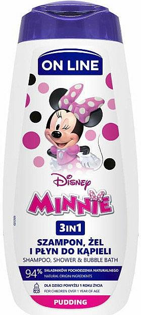 Душ гел-шампоан и пяна за вана 3в1 с аромат на пудинг - On Line Kids Disney Minnie