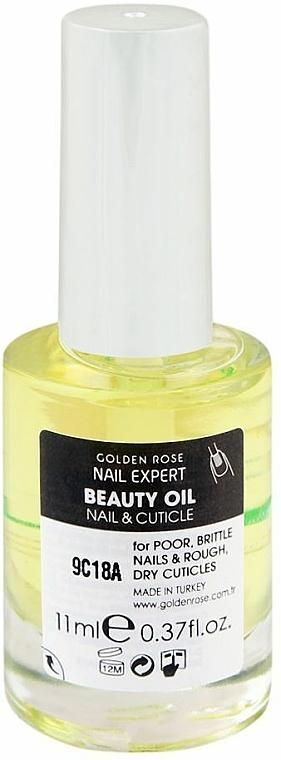 Масло за нокти и кожички - Golden Rose Nail Expert Beauty Oil Nail & Cuticle — снимка N3