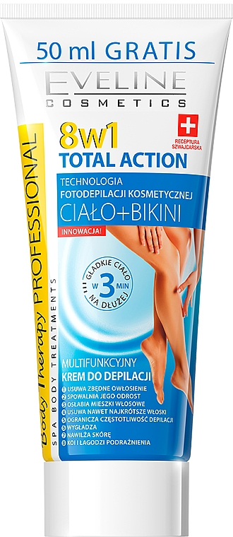 Крем за депилация 8в1 - Eveline Cosmetics 8w1 Total Action