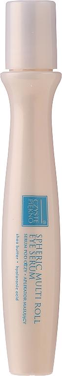 Околоочен серум с апликатор - Czyste Piekno Active Lifting Eye Serum Cream Massaging Roll On