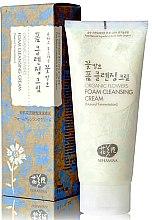 Парфюмерия и Козметика Почистващ крем за лице - Whamisa Organic Flowers Foam Cleansing Cream