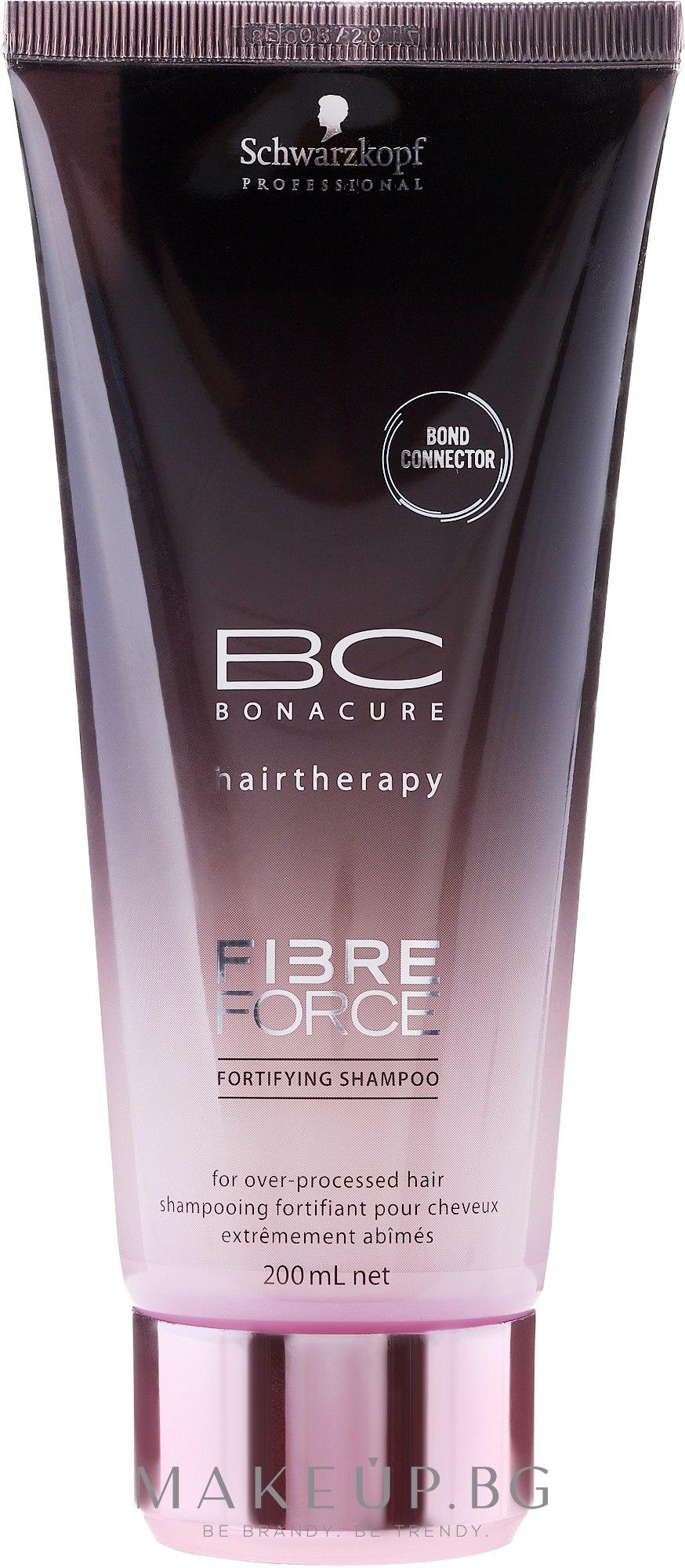 Безсулфатен шампоан за коса - Schwarzkopf Professional BC Fibre Force Fortifying Shampoo — снимка 200 ml