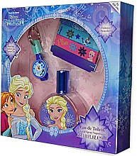 Парфюмерия и Козметика Air-Val International Disney Frozen - Комплект за деца (тоал. вода/30ml + ключодържател + 2/гривни)