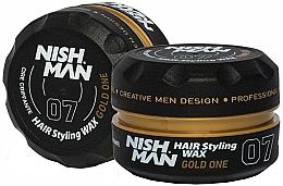 Парфюмерия и Козметика Стилизираща вакса за коса - Nishman Hair Styling Wax 07 Gold One