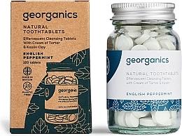 """Парфюмерия и Козметика Таблетки за почистване на зъби """"Английска мента"""" - Georganics Natural Toothtablets English Peppermint"""