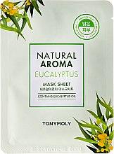 Парфюми, Парфюмерия, козметика Маска за лице от плат с евкалипт - Tony Moly Natural Aroma Eucalyptus Mask Sheet