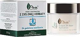 """Парфюми, Парфюмерия, козметика Крем за лице с екстракт от зелен чай """"24 часа хидратация"""" - Ava Laboratorium Green Tea Intensively Moisturizing Cream"""