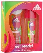 Парфюми, Парфюмерия, козметика Adidas Get Ready! For Her - Комплект (deo/sp 75ml +sh/gel/250ml)