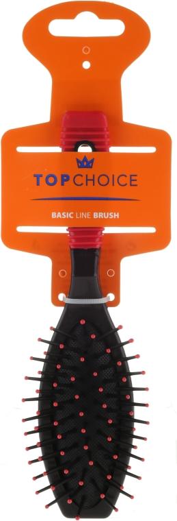 Четка за коса, 2151, черно-червена - Top Choice — снимка N1