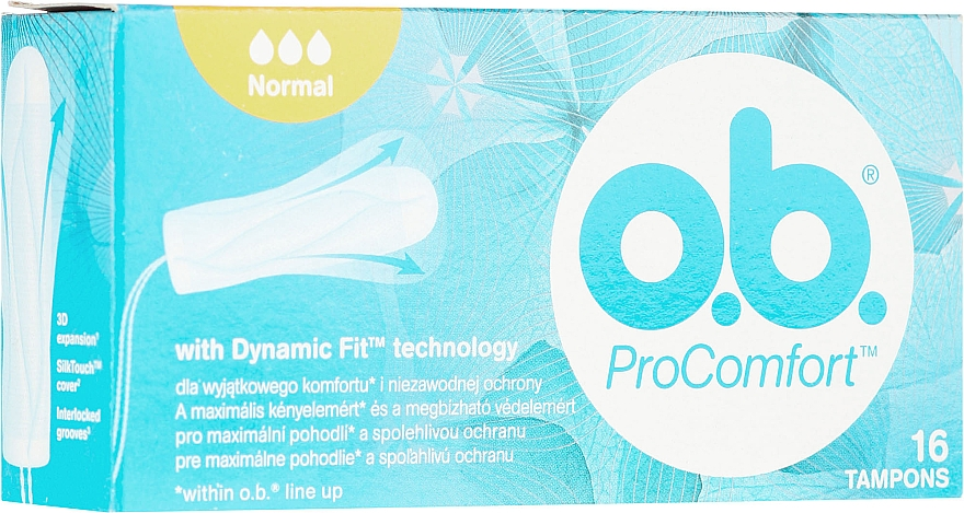 Дамски тампони, 16 бр - o.b. ProComfort Normal Tampons — снимка N1