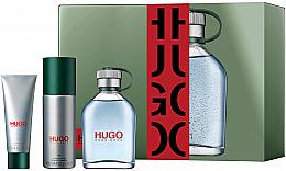 Парфюмерия и Козметика Hugo Boss Hugo Men - Комплект за мъже (тоал. вода/125ml+ спрей дезодор./150ml + душ гел/50ml)