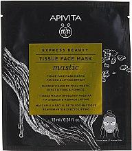 Парфюмерия и Козметика Памучна лифтинг маска за лице - Apivita Express Beauty Tissue Face Mask Mastic Firming & Lifting Effect