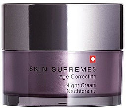 Парфюмерия и Козметика Нощен крем за лице - Artemis of Switzerland Skin Supremes Age Correcting Night Cream