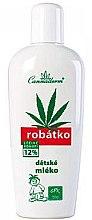 Парфюми, Парфюмерия, козметика Детско мляко за нежна и много чувствителна кожа - Cannaderm Robatko
