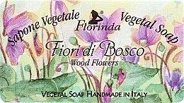 """Парфюмерия и Козметика Натурален сапун """"Горски цветя"""" - Florinda Sapone Vegetale Vegetal Soap Wood Flowers"""
