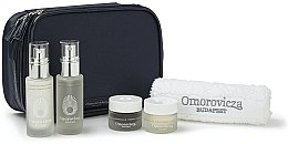 Парфюми, Парфюмерия, козметика Комплект за лице - Omorovicza Essentials (тоник/30ml + балсам/15 ml + крем/15ml + крем/15ml + кърпа + несесер)