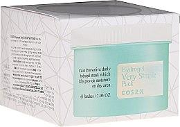 Парфюмерия и Козметика Пачове за лице - Cosrx Hydrogel Very Simple Pack