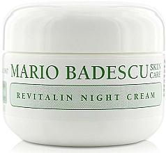Парфюмерия и Козметика Нощен ревитализиращ крем за лице - Mario Badescu Revitalin Night Cream