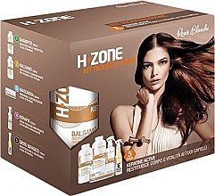 Парфюмерия и Козметика Възстановяващ комплект за коса - H.Zone (шампоан/500/ml + лосион/500/ml + спрей/250/ml + серум/150/ml + кърпа)
