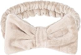 """Парфюмерия и Козметика Козметична лента за глава, бежова """"Wow Bow"""" - Makeup Beige Hair Band"""