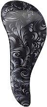 Парфюмерия и Козметика Четка за лесно разресване - KayPro Dtangler Brush Black Flower