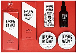 Парфюмерия и Козметика Комплект - Hawkins & Brimble Set (scr/125ml+asb/125ml+br/oil/50ml+sh/cr/100ml+wax/100ml+sh/brush)