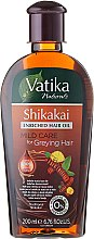 Парфюми, Парфюмерия, козметика Масло за коса - Dabur Vatika Indian Acacia Enriched Hair Oil Mild Care For Greying Hair