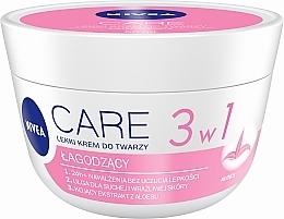 Парфюмерия и Козметика Омекотяващ крем за суха кожа - Nivea Care Light Soothing Cream