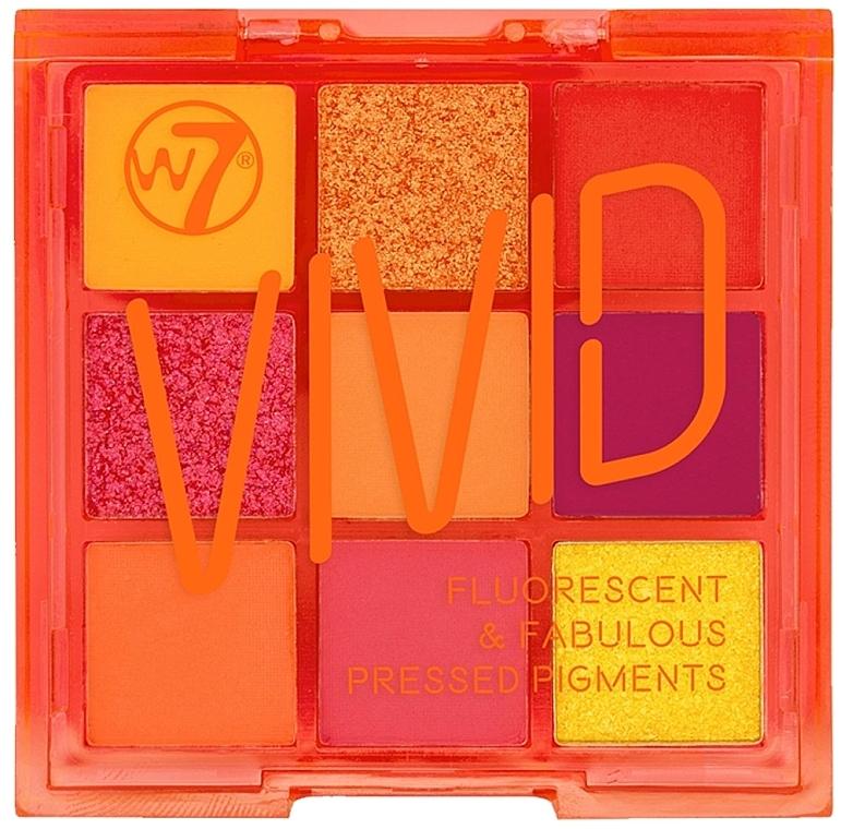 Палитра сенки за очи - W7 Vivid Fluorescent & Fabulous Pressed Pigments