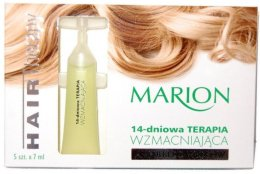 "Парфюми, Парфюмерия, козметика Ампули за коса ""14-дневна укрепваша терапия"" - Marion Ampoules For Damaged Weak Hair 14-Day Therapy"