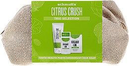Парфюми, Парфюмерия, козметика Комплект - Schmidt's Citrus Crush Trio Selection (део/58ml + сапун/142g + паста за зъби/100ml + козм. чанта)